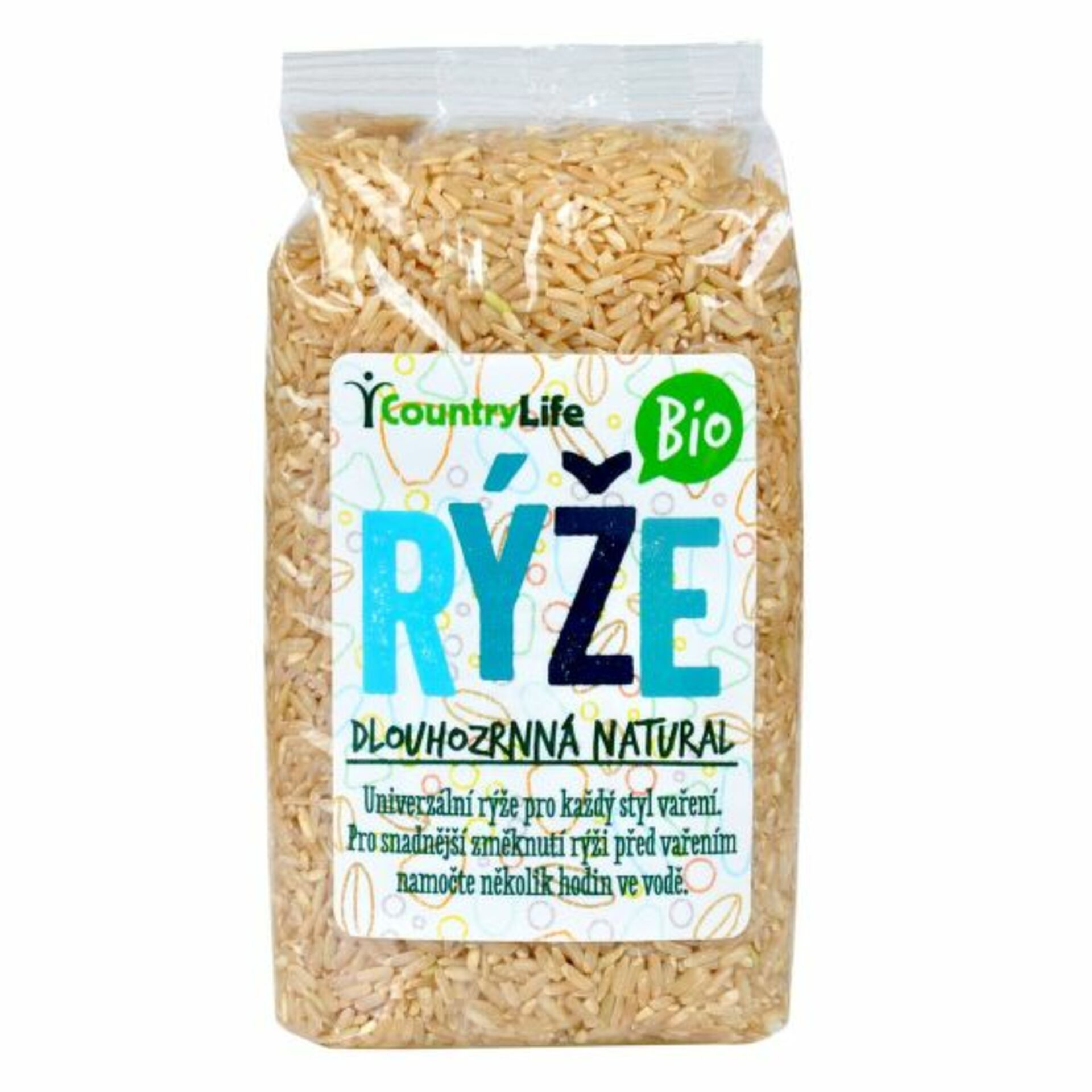 Country Life Ryža dlhozrnná natural BIO 500 g
