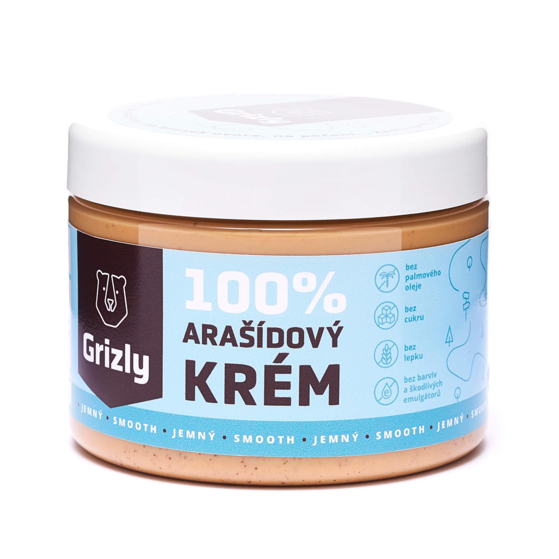 GRIZLY 100% Arašidové maslo jemné 500 g