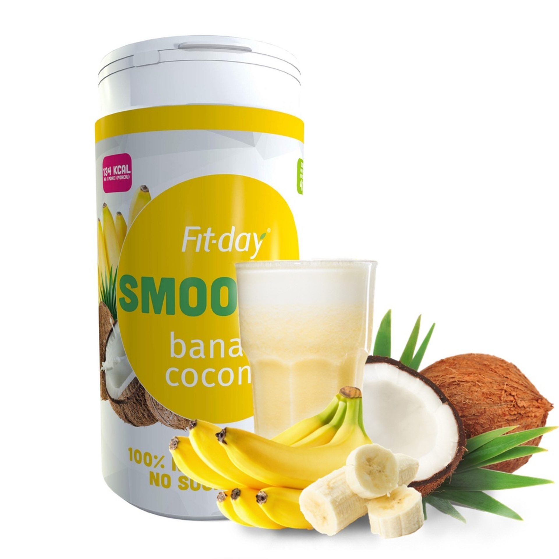 Fit-day Smoothie Banán / kokos 600 g
