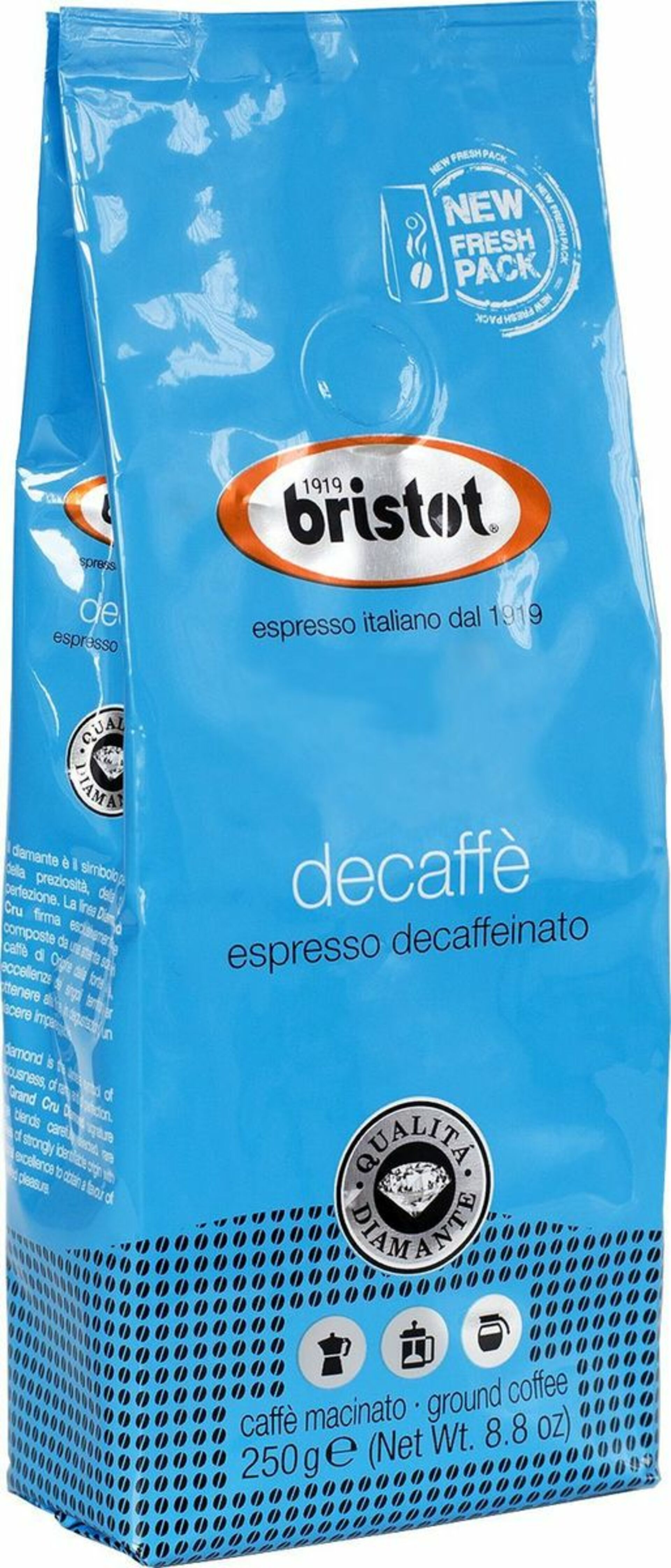Bristot Diamante Decaf 250g 335 01 30