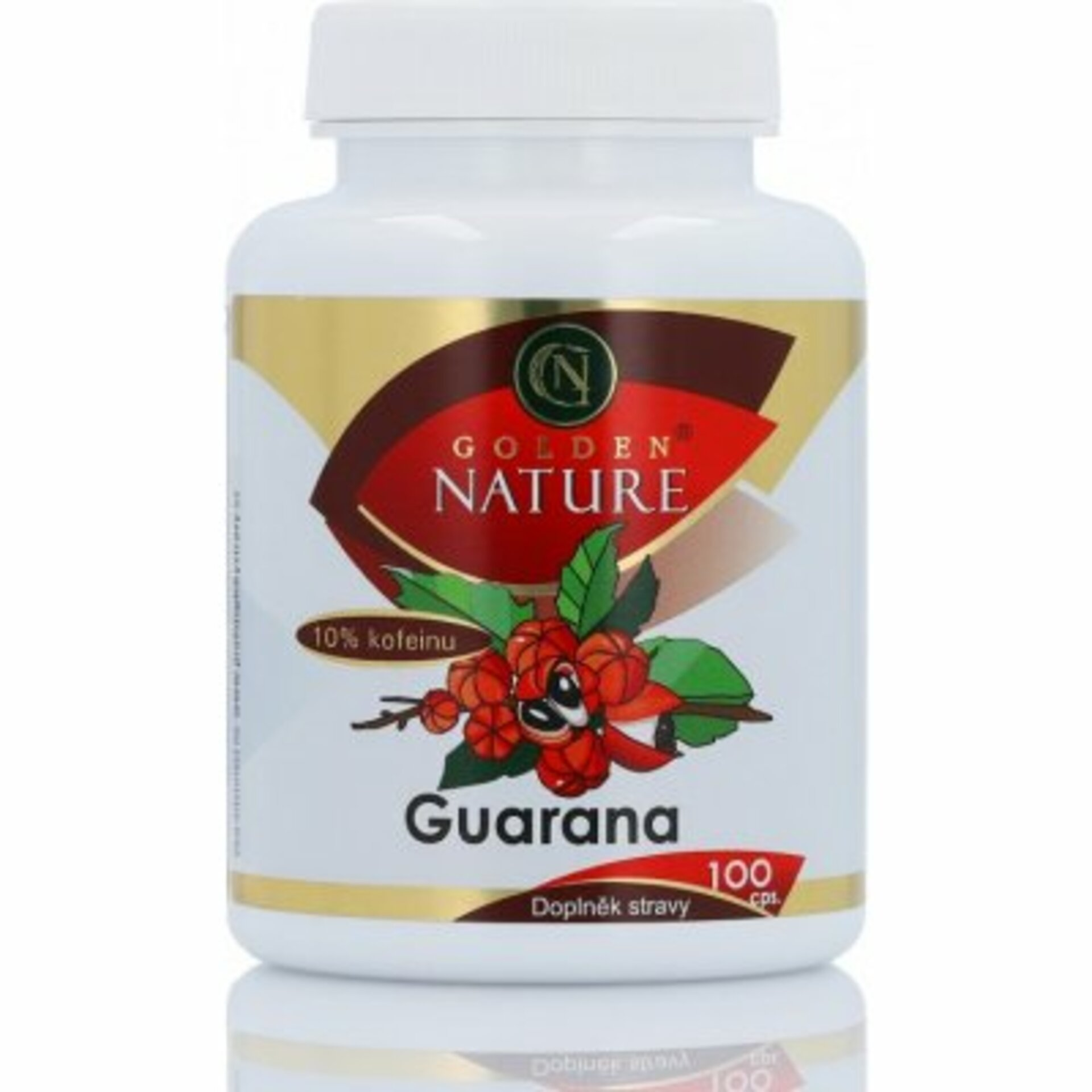 Golden Nature Guarana 10% kofeínu 100 tabliet