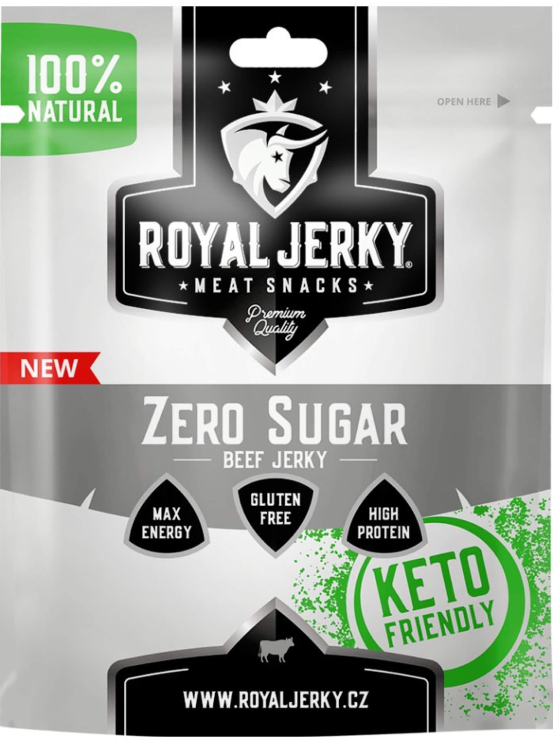 Royal Jerky Hovädzie sušené mäso Zero Sugar 22 g