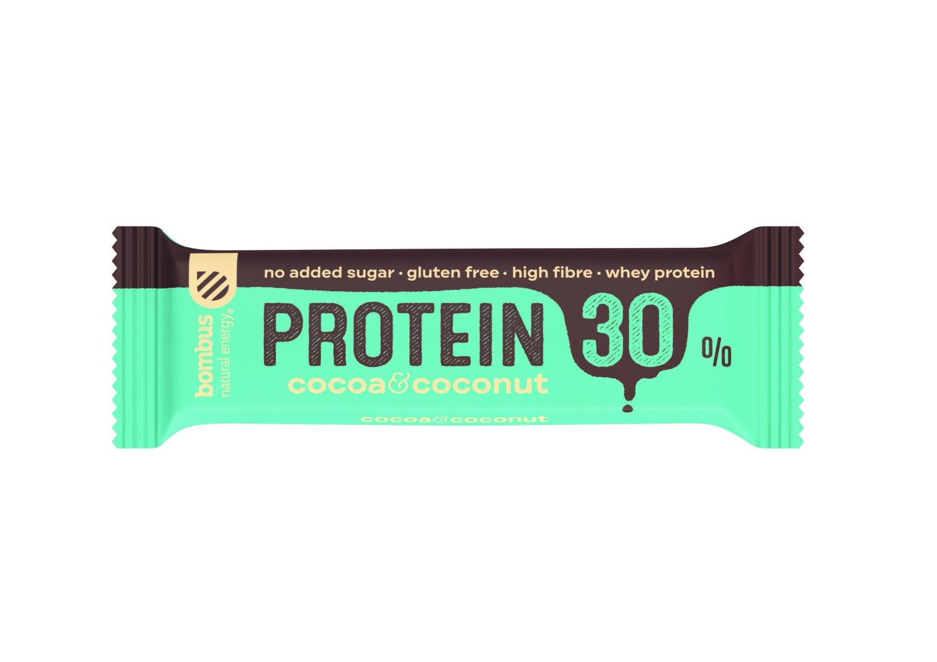 Bombus Proteín 30% Cocoa a Coconut 50 g