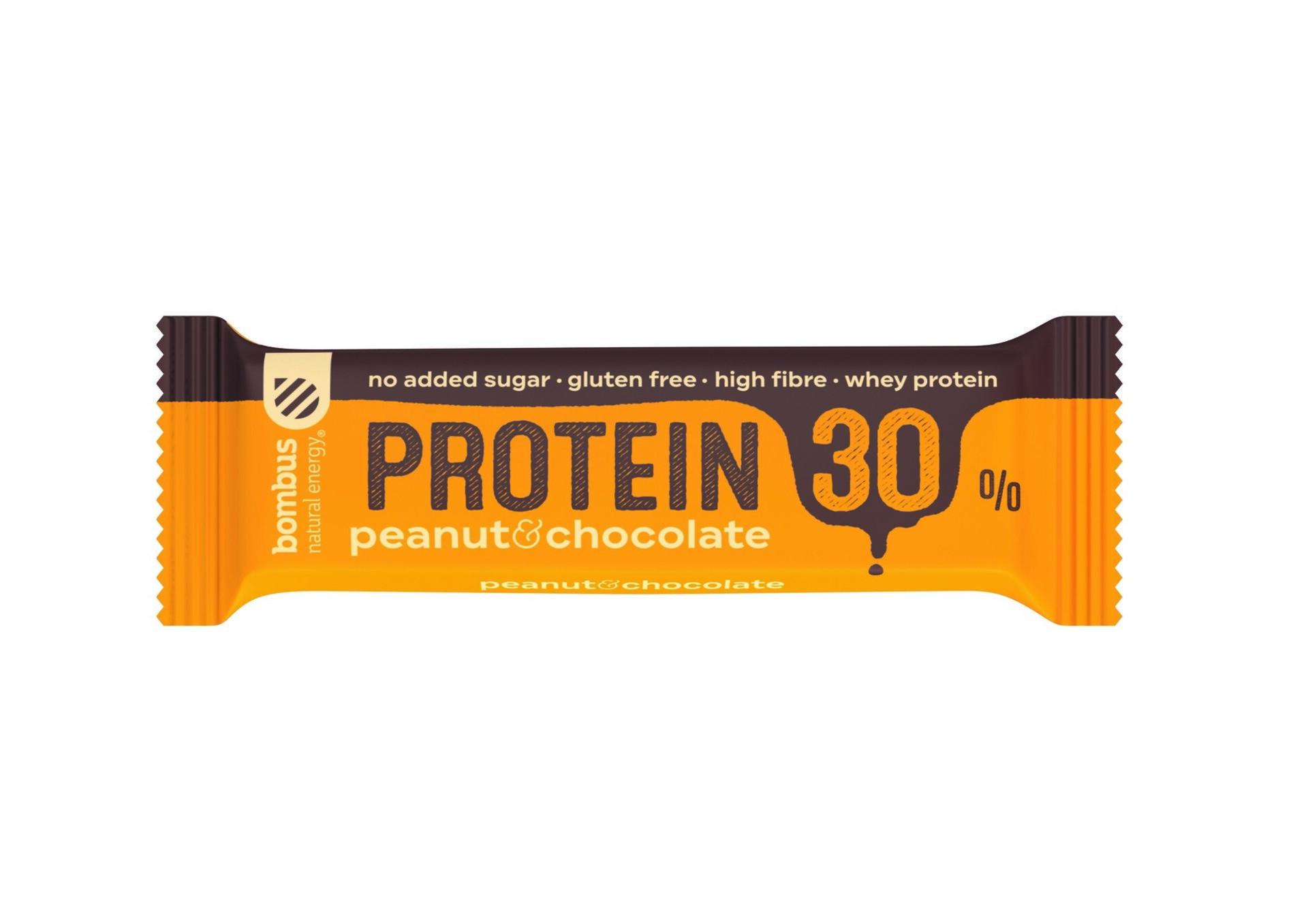 Bombus Proteín 30% Peanut a chocolate 50 g