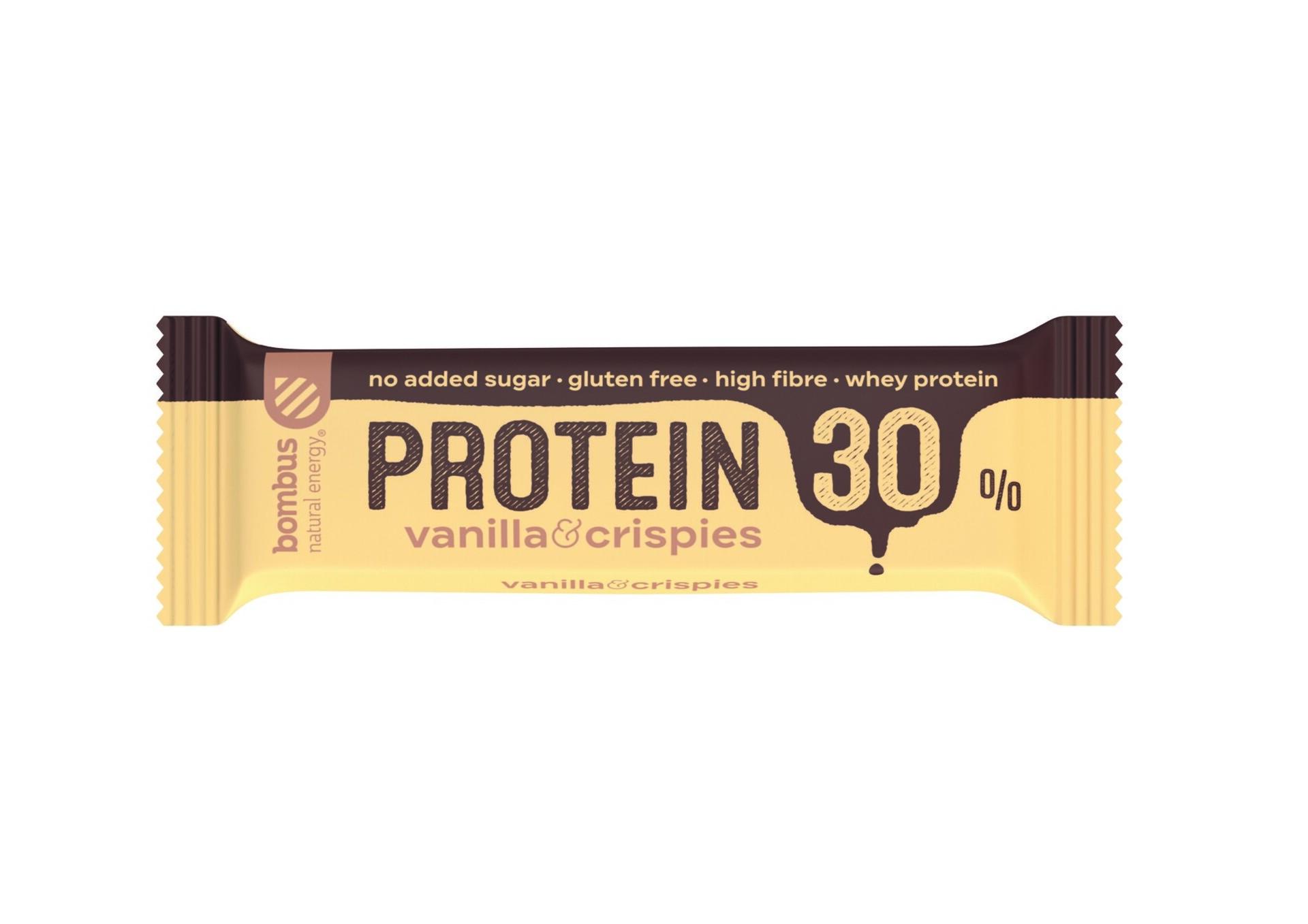 Bombus Proteín 30% Vanilla a crispies 50 g
