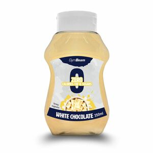 GymBeam Bezkalorický sirup White Chocolate 350 ml