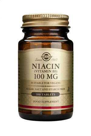 Solgar Niacín 100 mg 100 tabliet