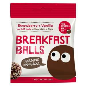 The proteín ball co Breakfast jahoda + vanilka 45 g