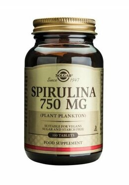Solgar Spirulina 750mg 100 tablet