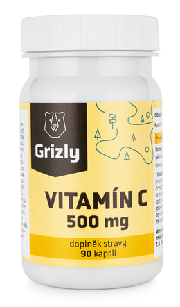 GRIZLY Vitamín C 500 mg 90 tabliet