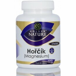 Golden Nature Magnesium (Horčík) Chelate + Vitamín B6 100 tablet